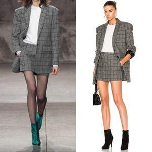 TIBI Aldridge checked wool-blend tweed mini skirt
